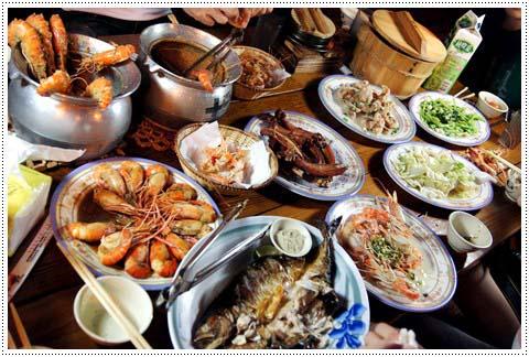 【新竹美食餐廳】新竹尾牙聚餐海鮮美食餐廳,網路上也超多人推薦的黃金海岸黃蝦之家~