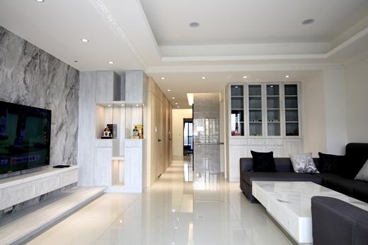 推薦:室內設計|期待已久的新家~裝潢後客廳和餐廳都很滿意!系統櫃和整體空間都很大器!